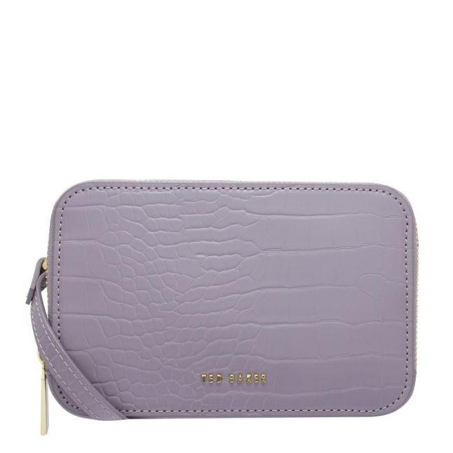 Womens Grey Stina Double Zip Mini Camera Bag