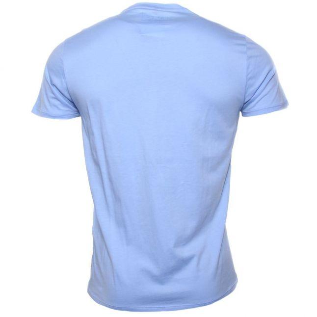 Mens Azure Blue Chest Logo S/s Tee Shirt