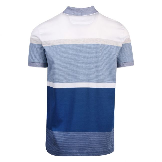Athleisure Mens Blue Paddy 4 Stripe Regular Fit S/s Polo Shirt