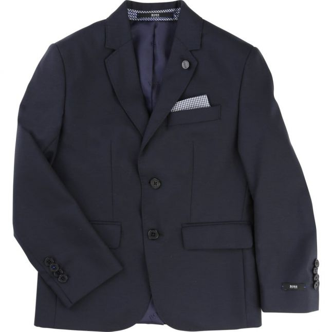 Boys Navy Branded Blazer