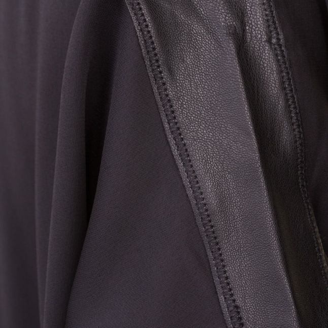 Womens Black Leather Trim Top