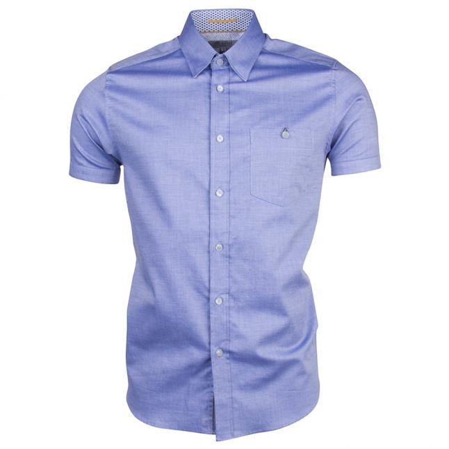 Mens Blue Wooey S/s Shirt