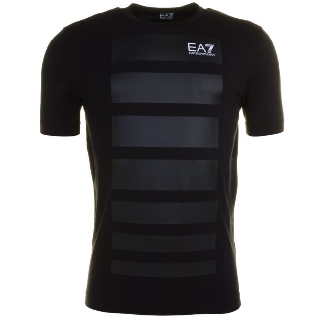 Mens Black Graphic Series Crew S/s Tee Shirt