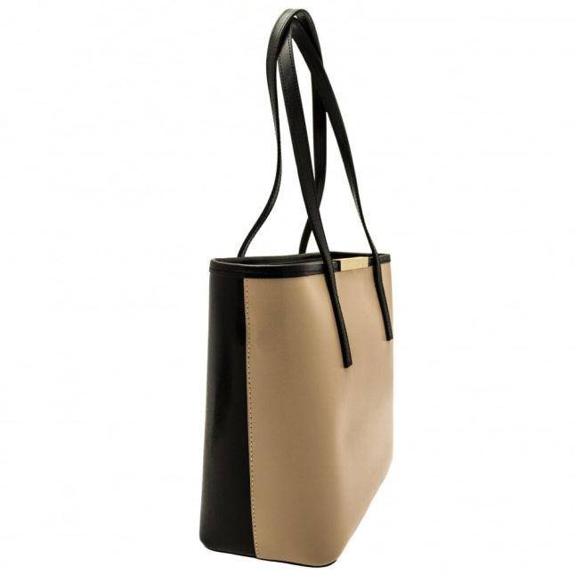 Womens Camel Kym Metal Bar Small Shopper Bag & Purse