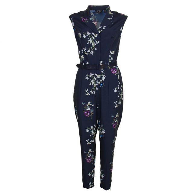 Womens Dark Blue Ficia Spring Meadow Jumpsuit