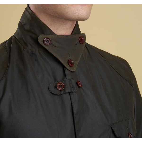 Mens Olive Beacon Sports Waxed Jacket