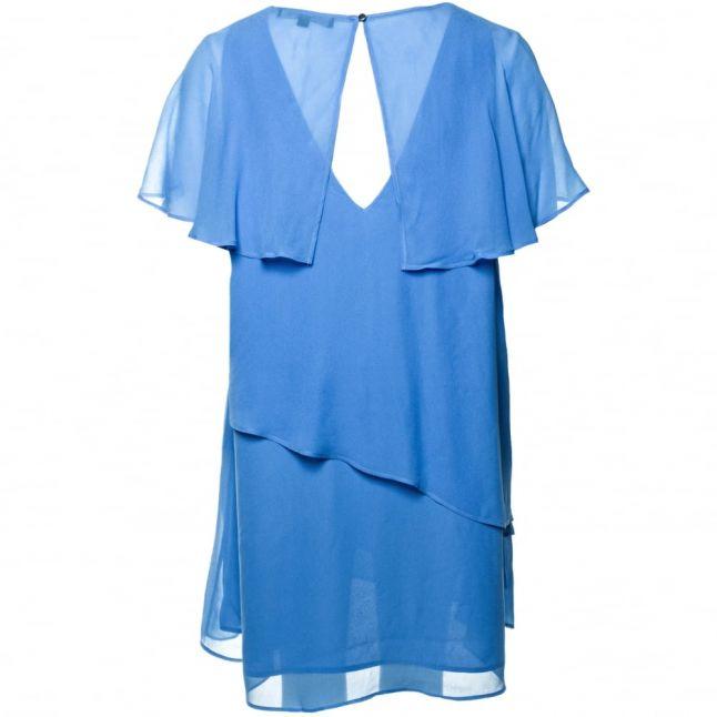 Womens Vista Blue Midsummer Dream Layered Dress