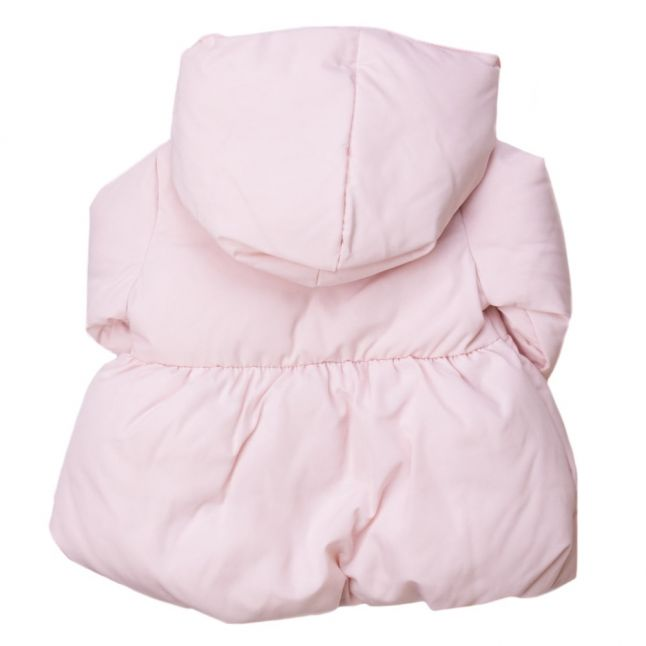 Baby Pink Hooded Down Jacket