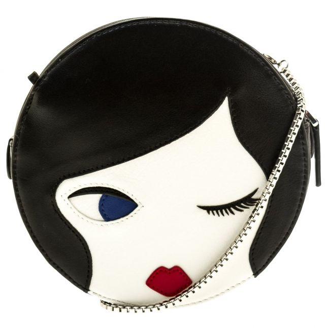 Womens Black & Chalk Doll Face Cross Body Bag