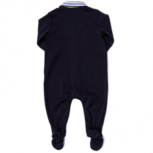 Baby Navy Babygrow & Bib Set