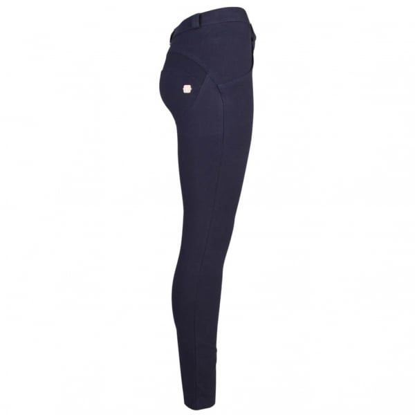 Womens Navy Mid Rise Skinny Jeans