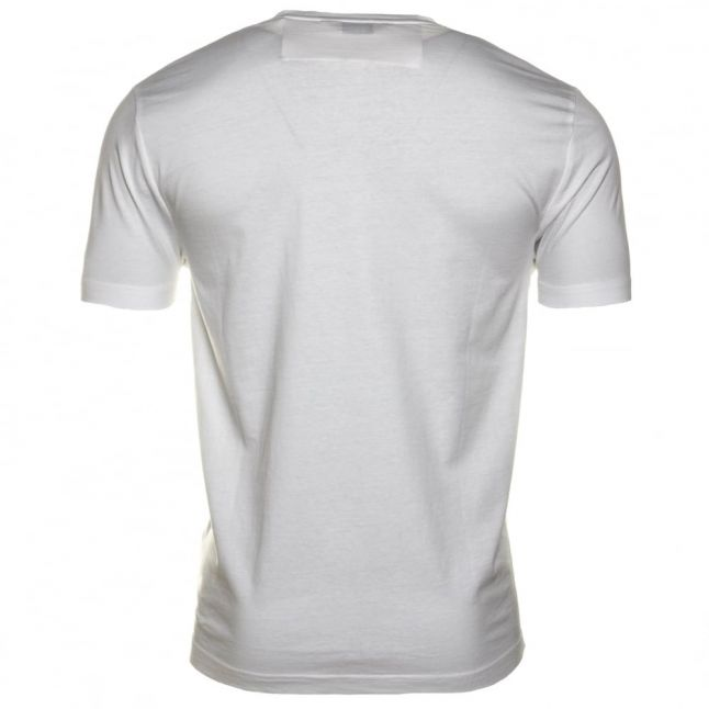Mens Bright White Tape Pocket S/s Tee Shirt