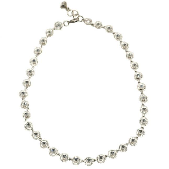 Womens Silver & Crystal Rosele Necklace