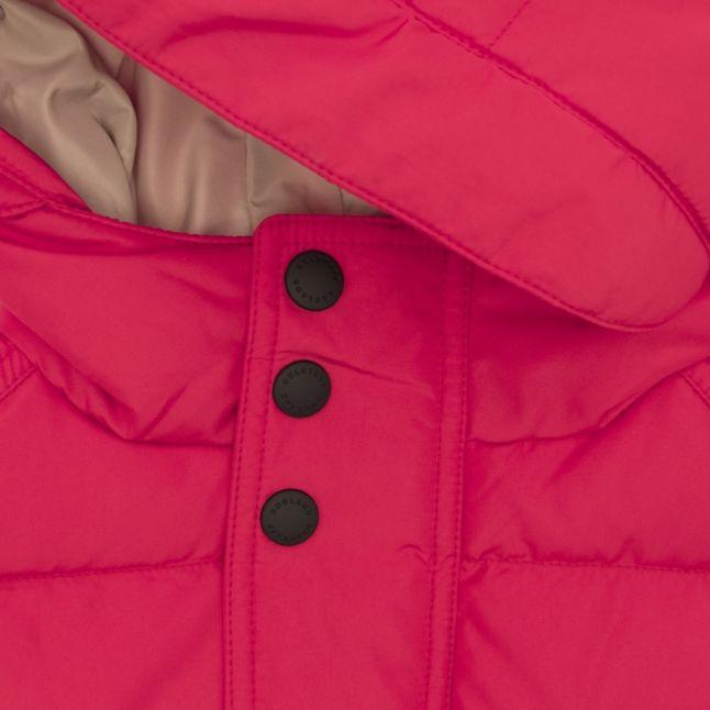Boys Racing Red Singer Padded Hooded Coat