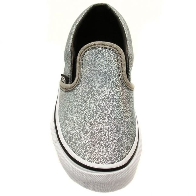 Kids Silver Matte Iridescent Slip-On Trainers (10-3)