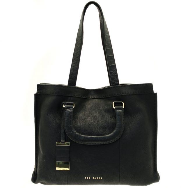 Womens Black Gaitier Exotic Stab Stitch Large Tote Bag