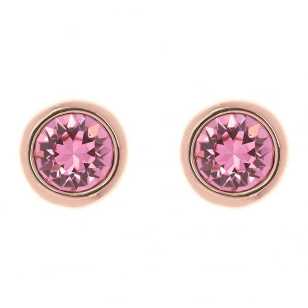 Womens Rose Gold/Rose Sinaa Crystal Stud Earrings