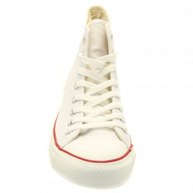 White Leather Chuck Taylor All Star Hi