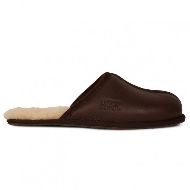 Mens Stout Scuff Leather Slippers