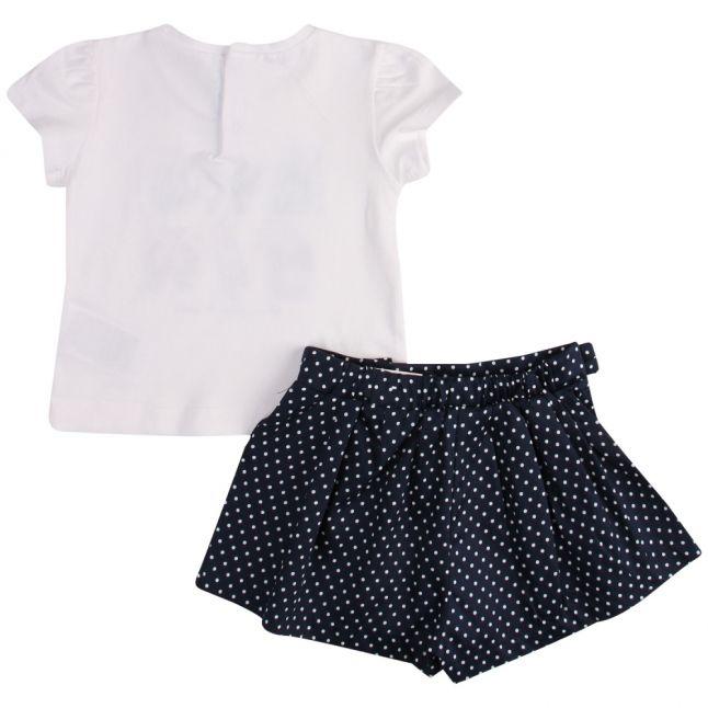 Infant White/Navy Perfume Top & Shorts Set