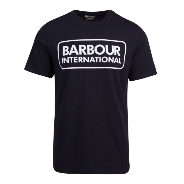 Mens Navy Essential Large Logo S/s T Shirt