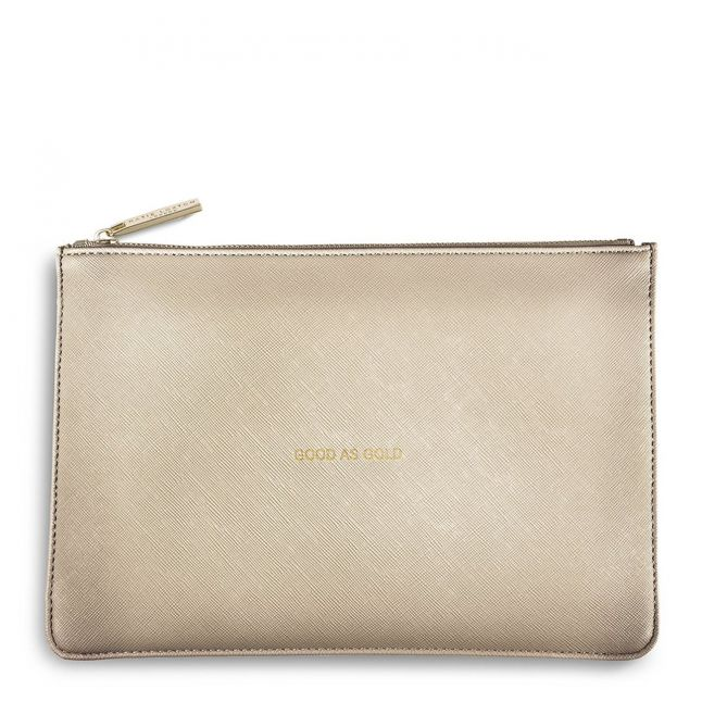 Womens Metallic Gold Good As Gold Perfect Pouch