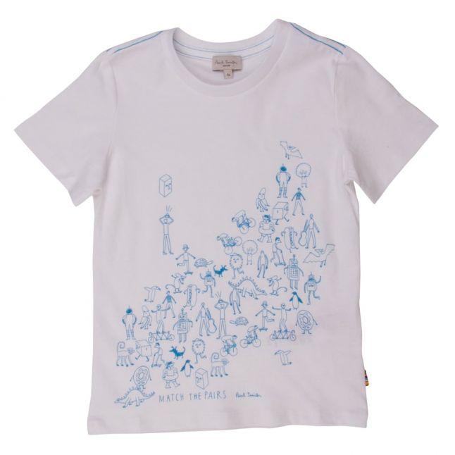 Boys White Niall S/s Tee Shirt
