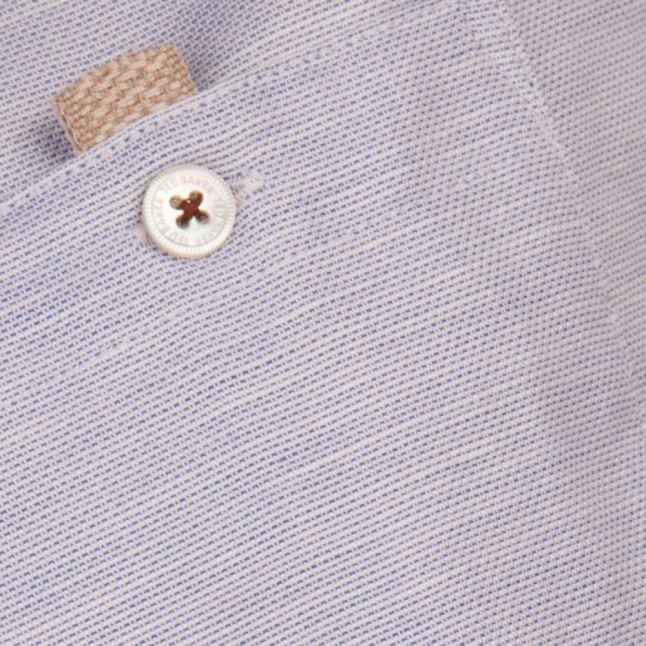 Mens Blue Palpin Linen S/s Shirt