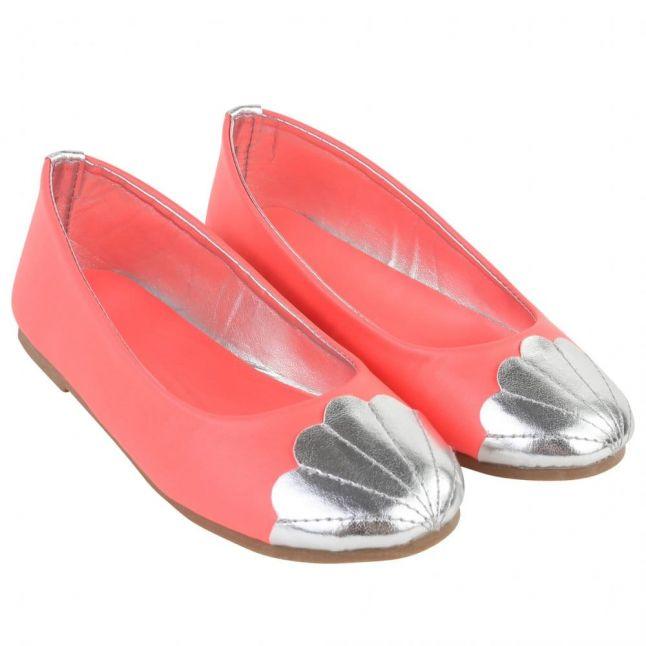 Girls Pink Scalloped Ballet Pumps