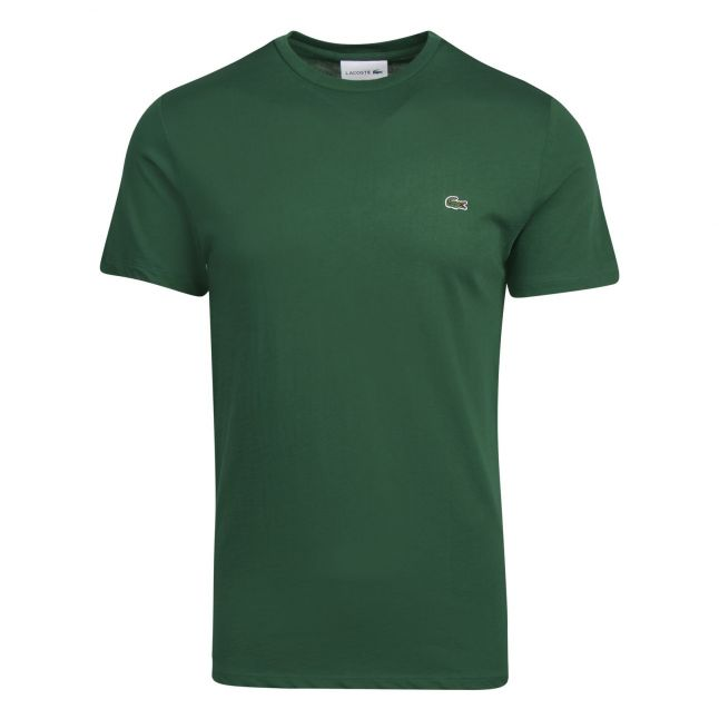 Mens Green Basic S/s T Shirt