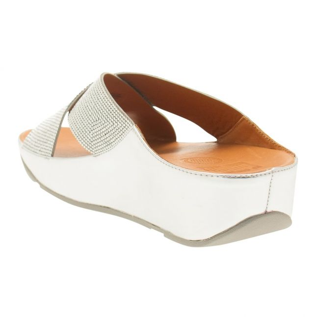 Womens Silver Crystall™ Slides