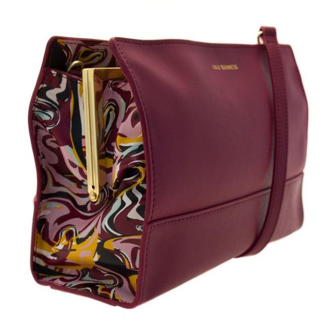Womens Cassis Swirl Print Daphne Leather Cross Body Bag