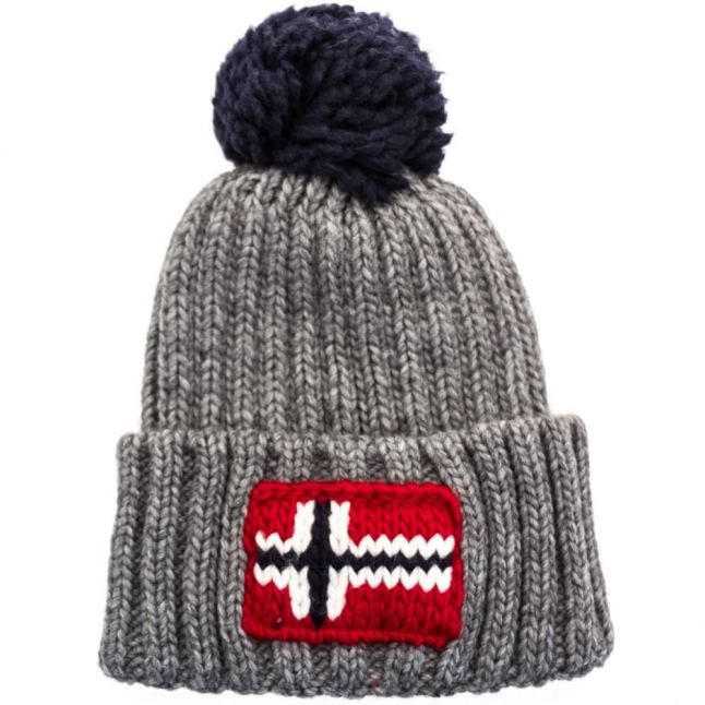 Mens Grey Semiury Knitted Hat