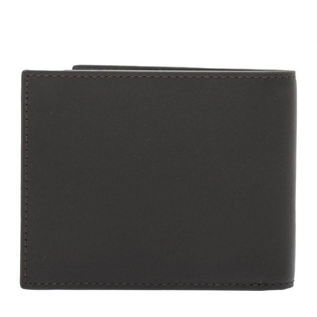 Mens Dark Brown Branded Leather Wallet