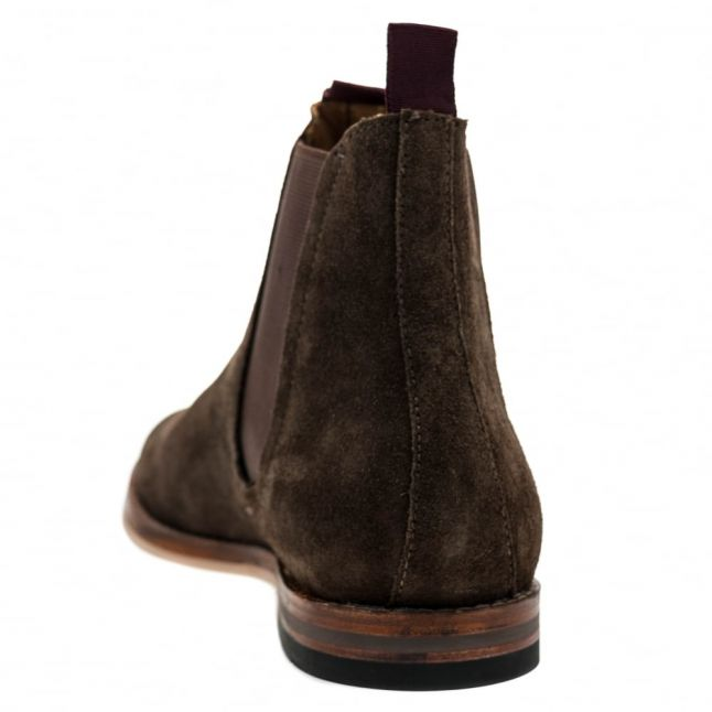 H By Hudson Mens Brown Tamper Suede Chelsea Boots