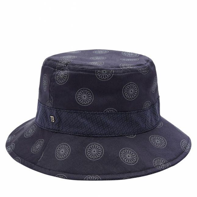 Mens Navy Tooslo Reversible Bucket Hat