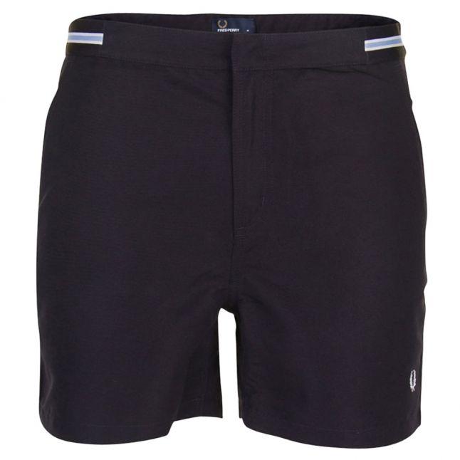 Mens Navy Bomber Tape Swim Shorts