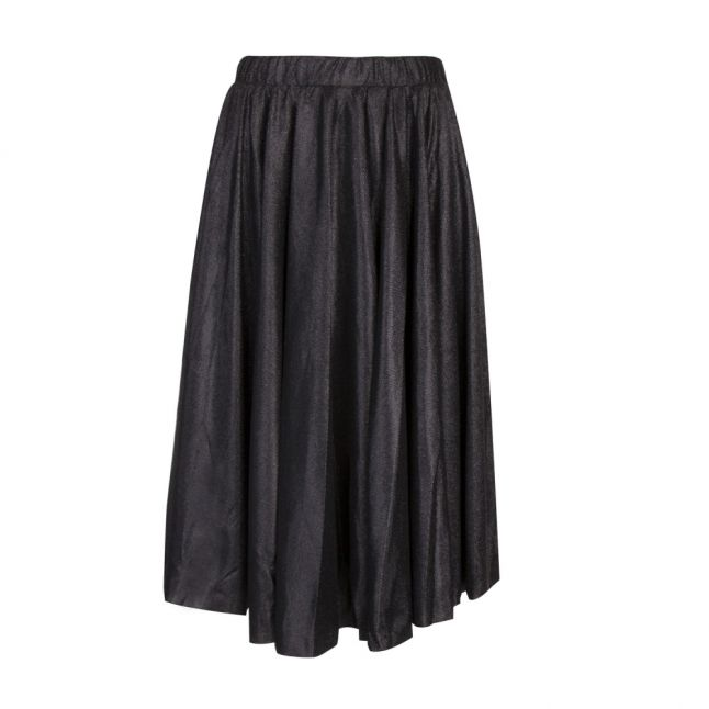 Womens Black Vilena Glitter Midi Skirt