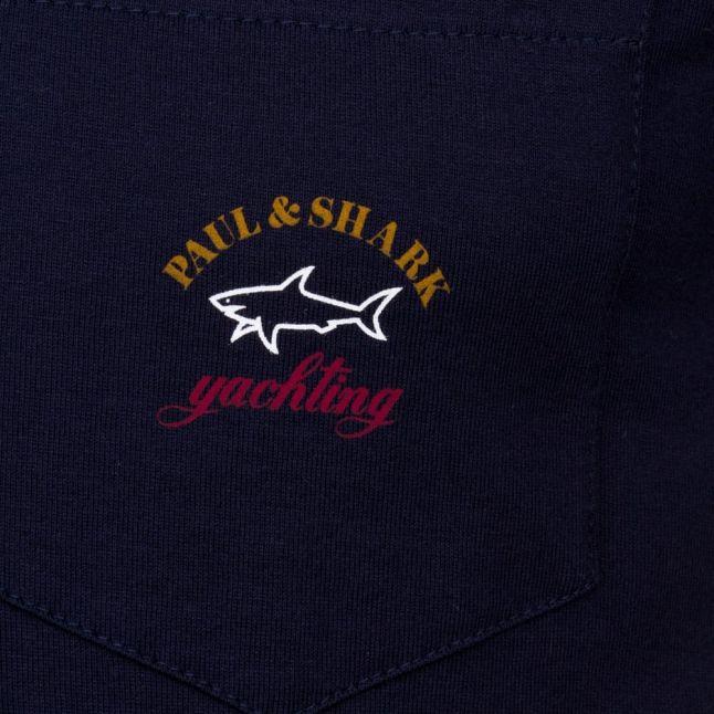 Paul & Shark Mens Navy Shark Fit Pocket S/s Tee Shirt