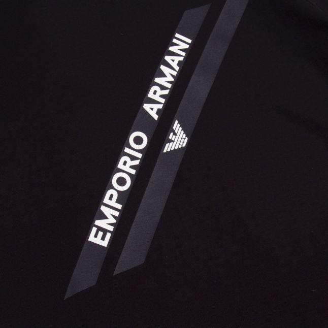 Boys Navy Diagonal Logo S/s T Shirt