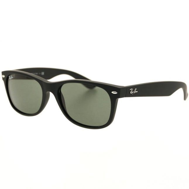 Black Rubber RB2132 New Wayfarer Sunglasses