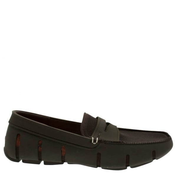 Mens Black Classic Penny Loafers