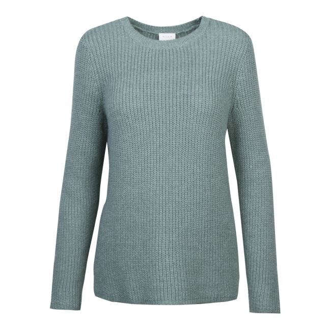 Womens Oil Blue Vigood Wool Knitted Jumper