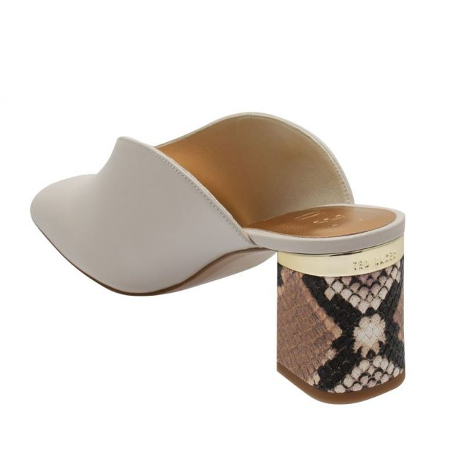 Womens White Kamiy Leather Mules