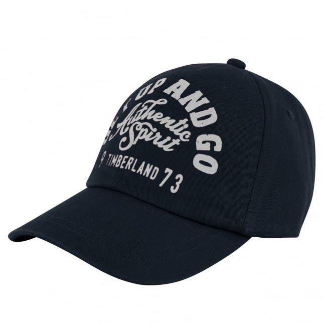 Boys Navy Branded Cap