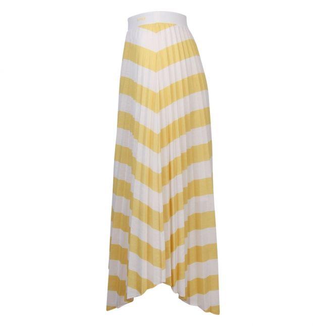 Casual Womens Yellow Trena Stripe Midi Skirt