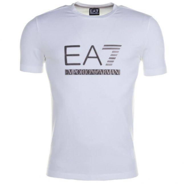 Mens White Training Logo Series Crew S/s Tee Shirt