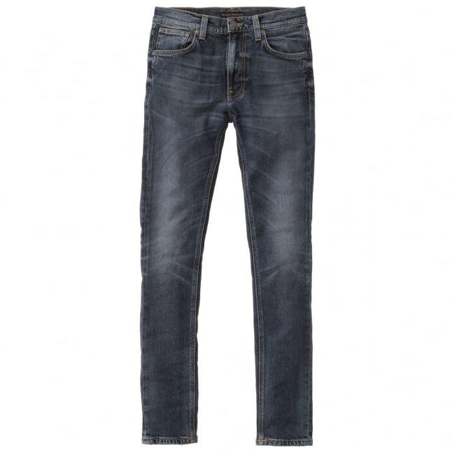 Mens Deep Dark Indigo Wash Lean Dean Slim Fit Jeans