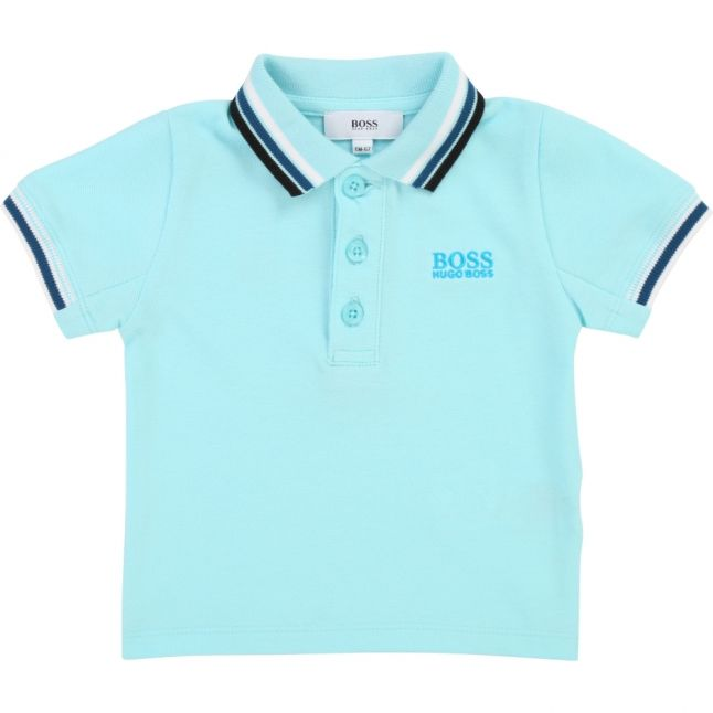Toddler Turquoise Multi Tipped S/s Polo Shirt