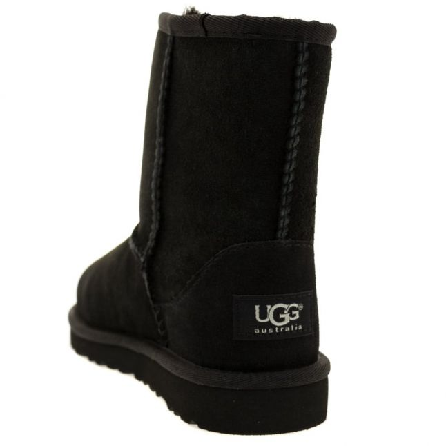 Kids Black Classic Short Boots (12-3)
